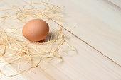 Organic speckled brown egg