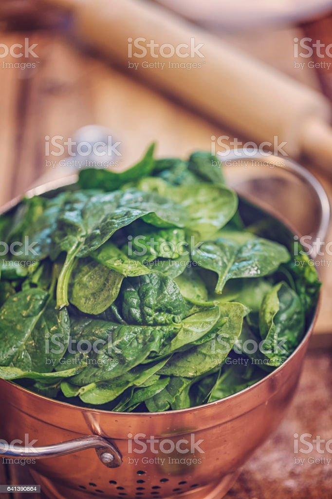 Organic Spinach stock photo