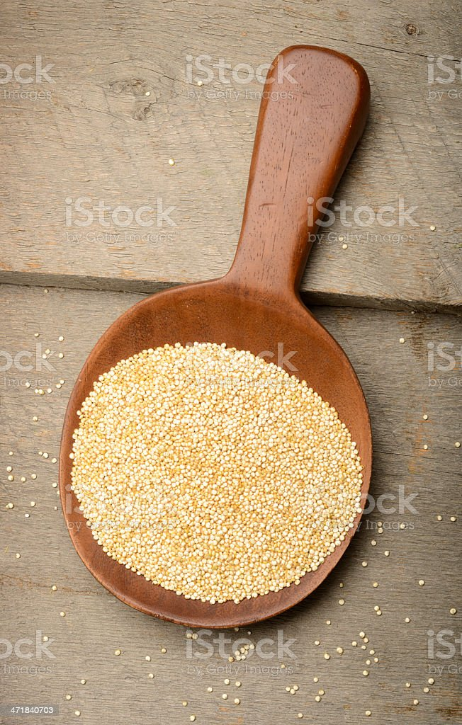 Organic Sprouted Quinoa Grains royalty-free stock photo