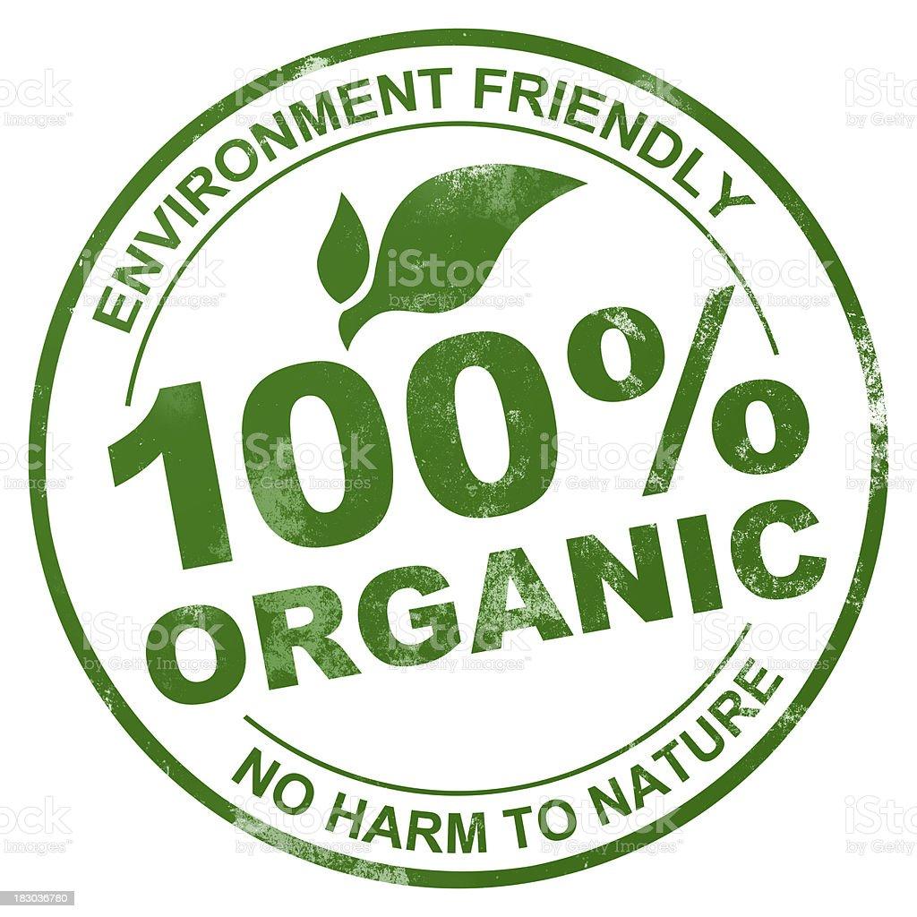100% Organic Stamp royalty-free stock photo