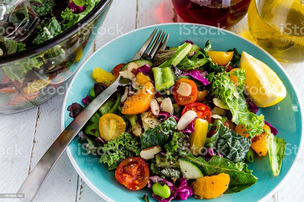 Organic Super Food Vegetarian Salad stock photo