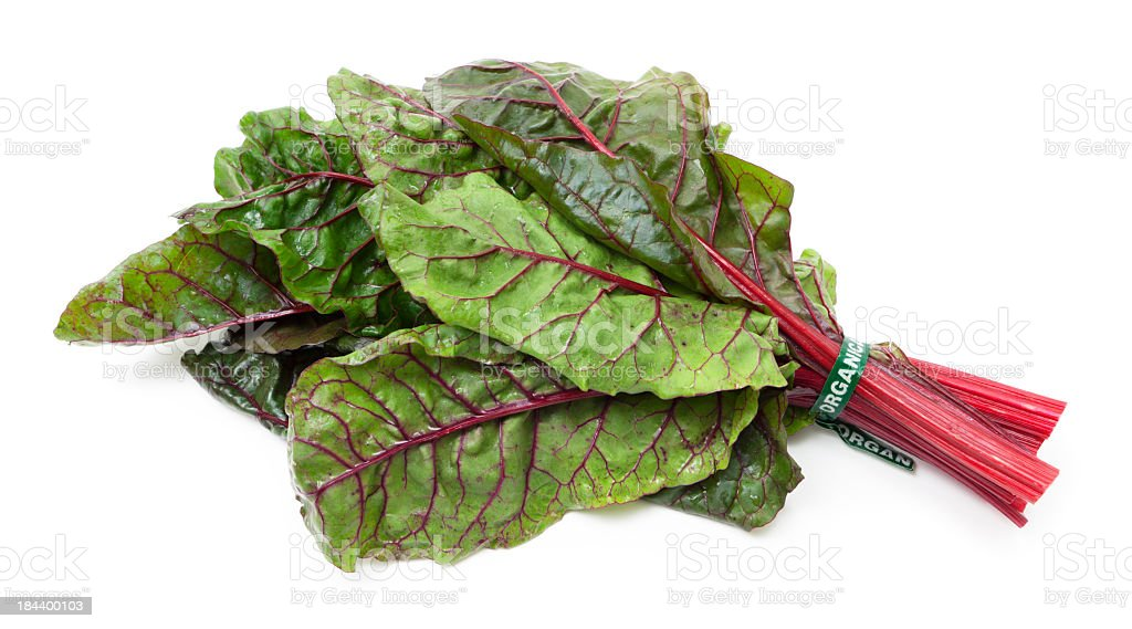Organic Swiss chard stock photo