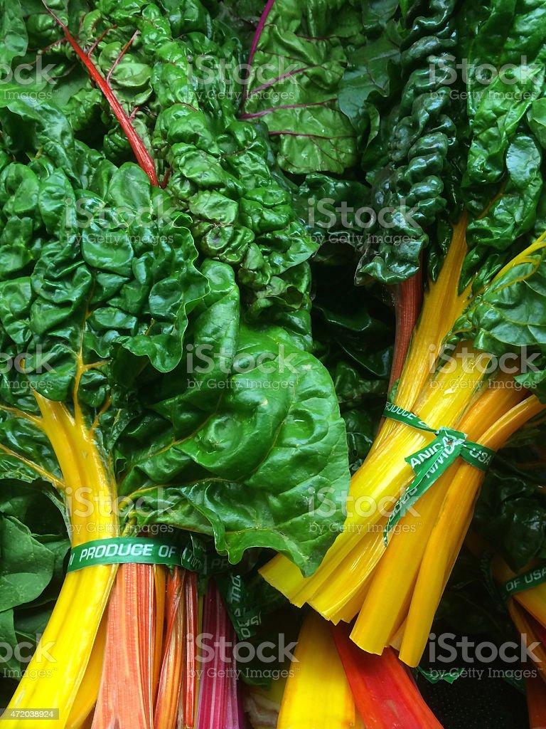 Organic swiss chard stock photo