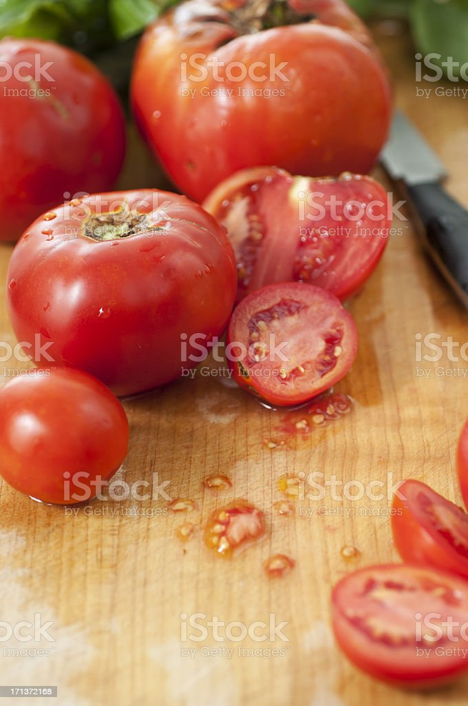 Organic Tomatoes royalty-free stock photo