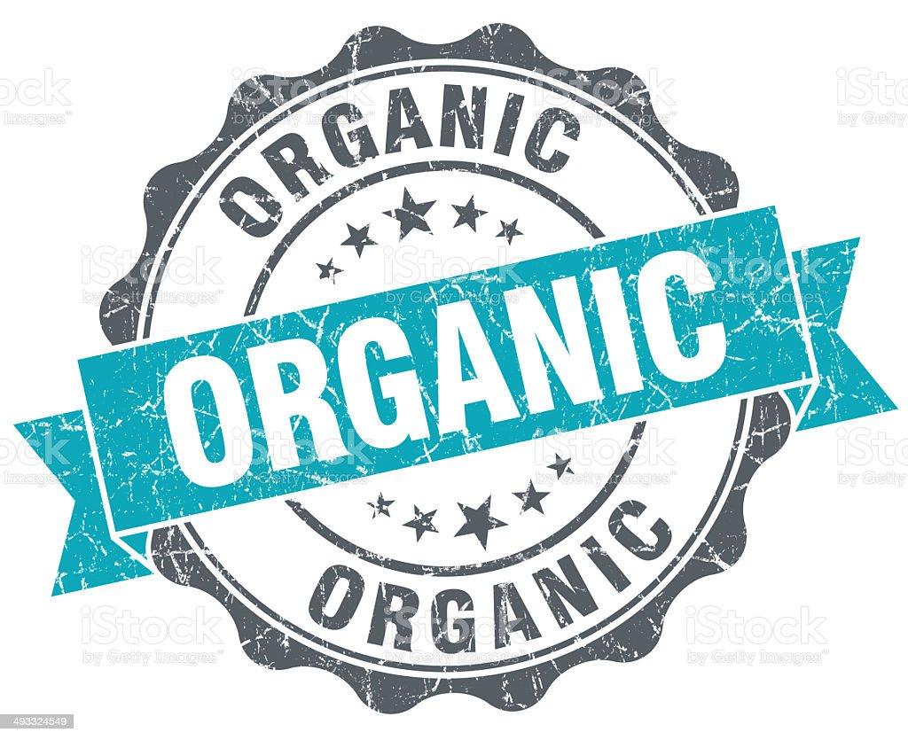 Organic turquoise grunge retro style isolated seal stock photo