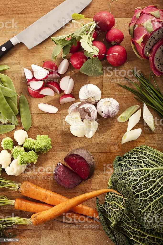 organic vegatables stock photo