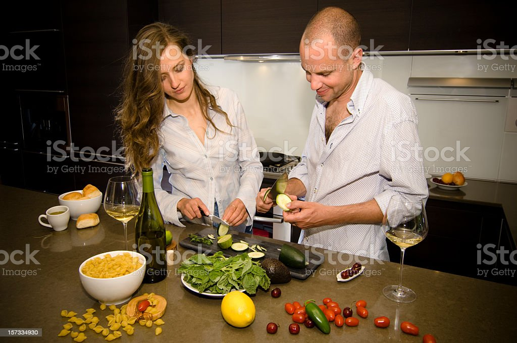 Organic Vegetable Cooking with Wine royalty-free stock photo