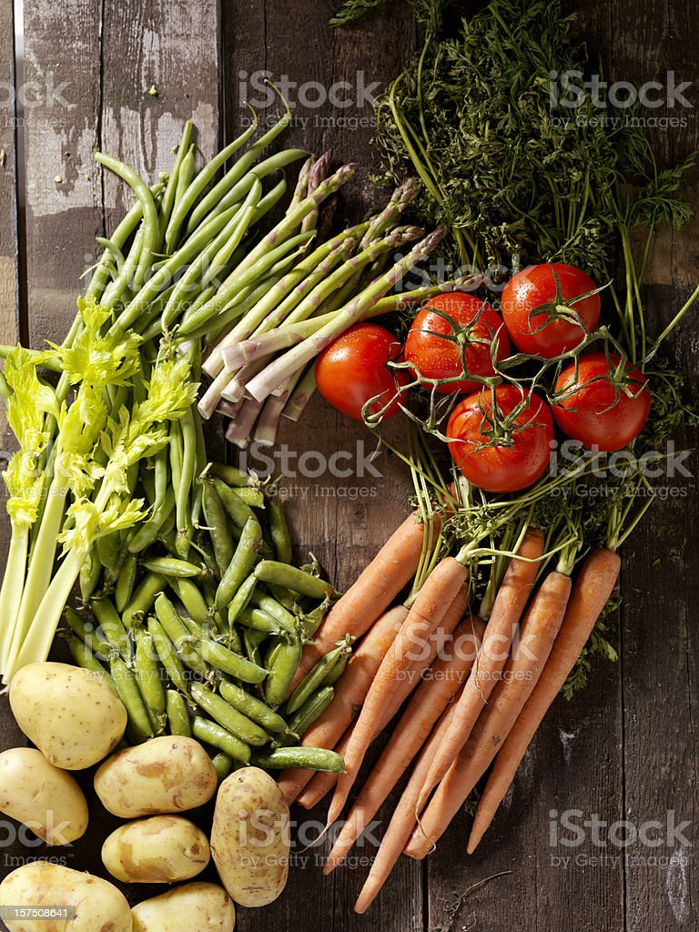Organic Vegetables from the Farmers Market royalty-free stock photo