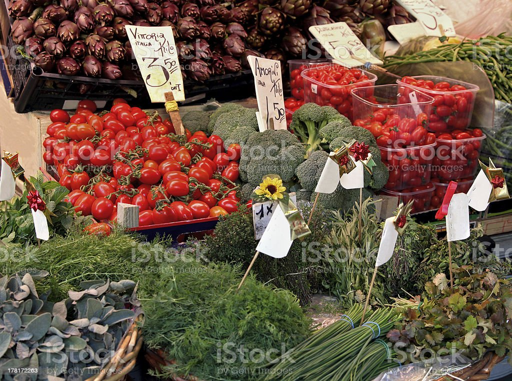 Organic vegetables market stall royalty-free stock photo