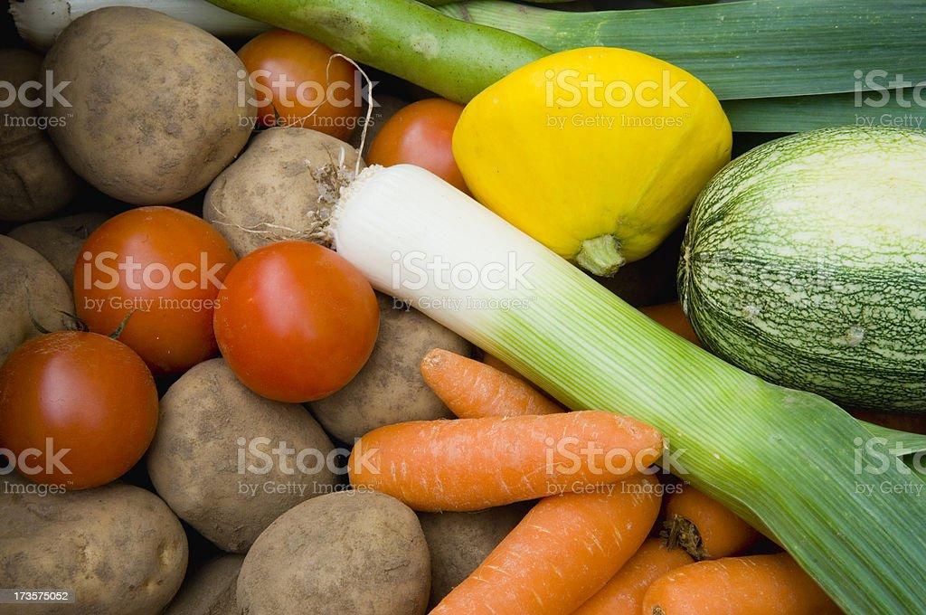 Organic vegetables stock photo