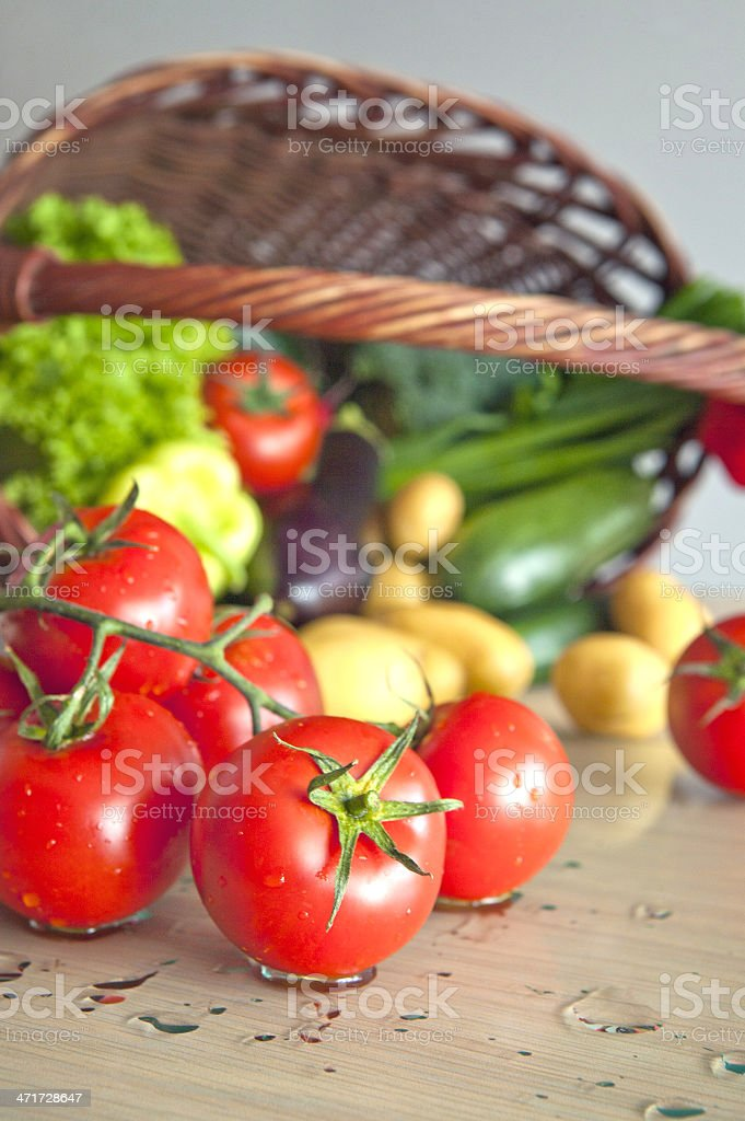 Organic vegetables royalty-free stock photo