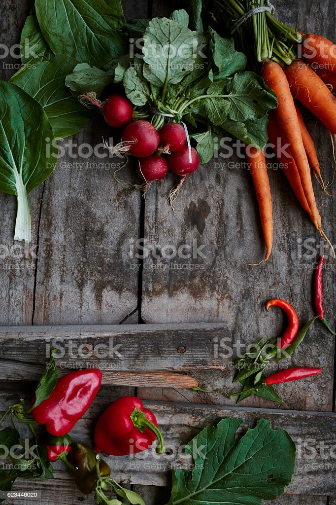 Organic vegetables stock photo