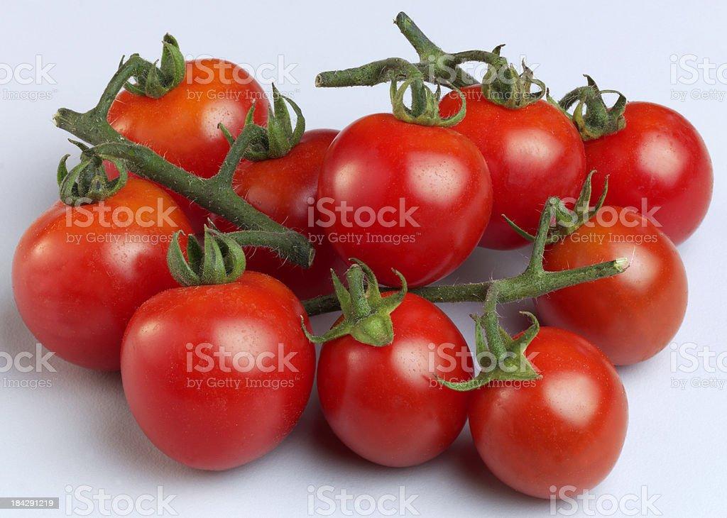 Organic Vine Tomatoes stock photo