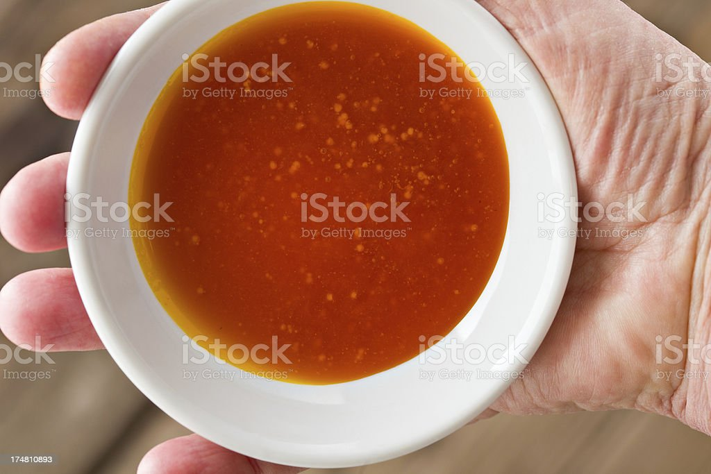 Organic Virgin Red Palm Oil stock photo