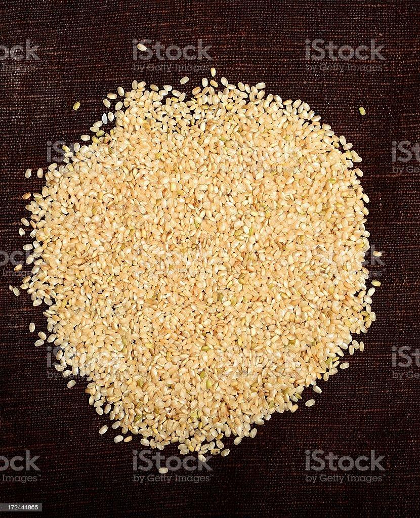 Organic whole grain rice royalty-free stock photo