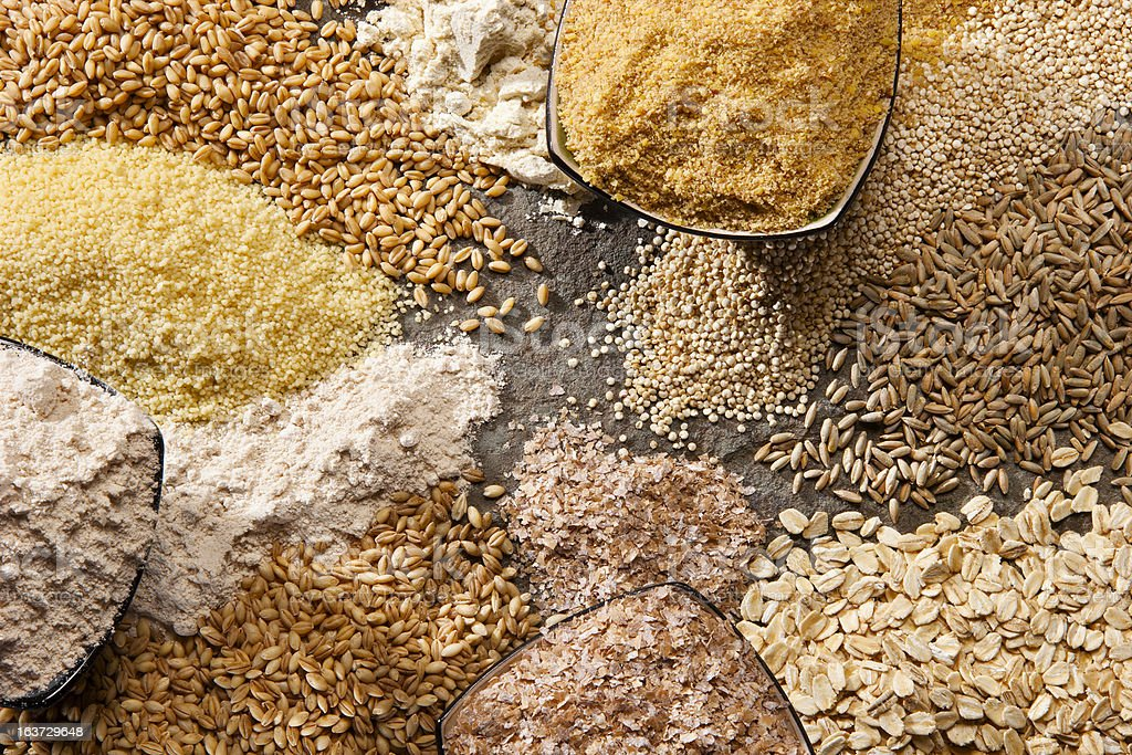 Organic Whole Grains stock photo