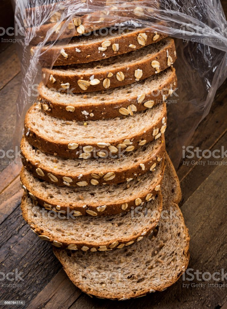 Organic Whole Wheat Bread stock photo