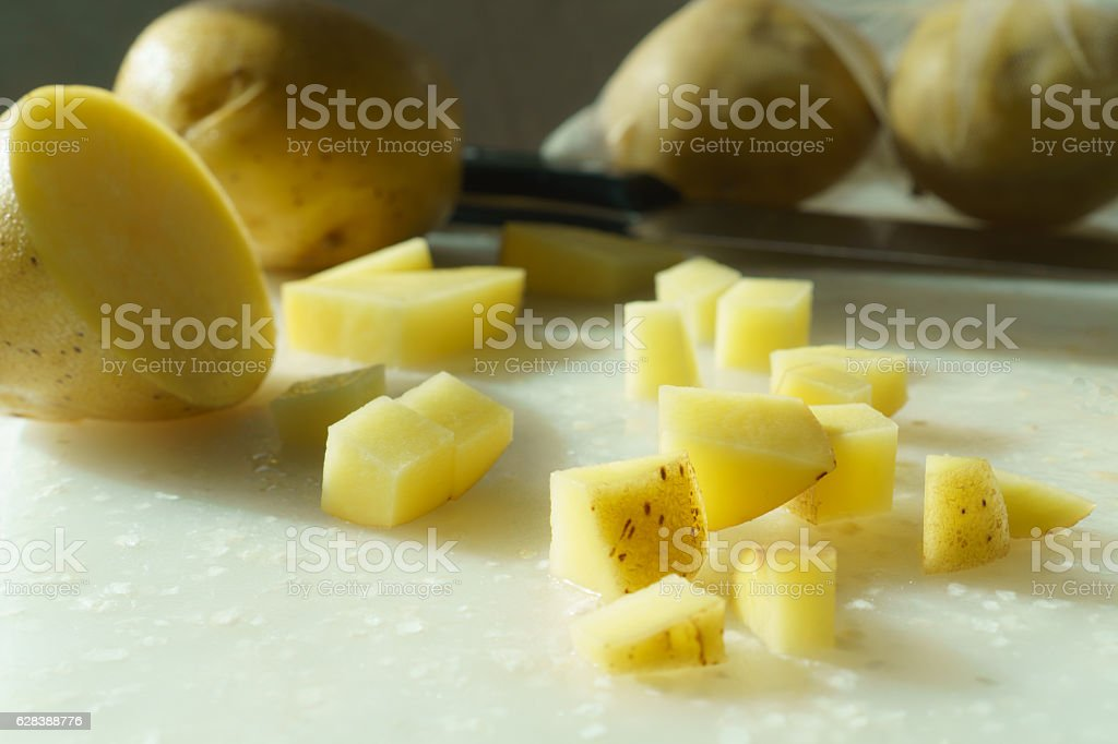 Organic Yukon Gold Potatoes stock photo