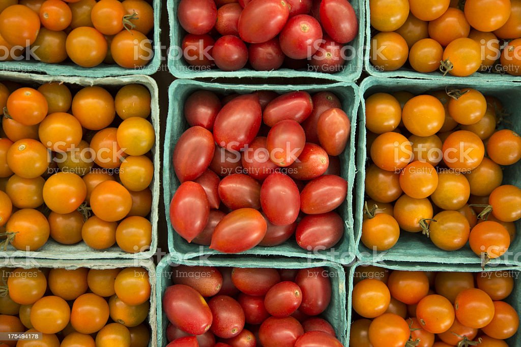 Organically Grown Cherry Tomatoes royalty-free stock photo