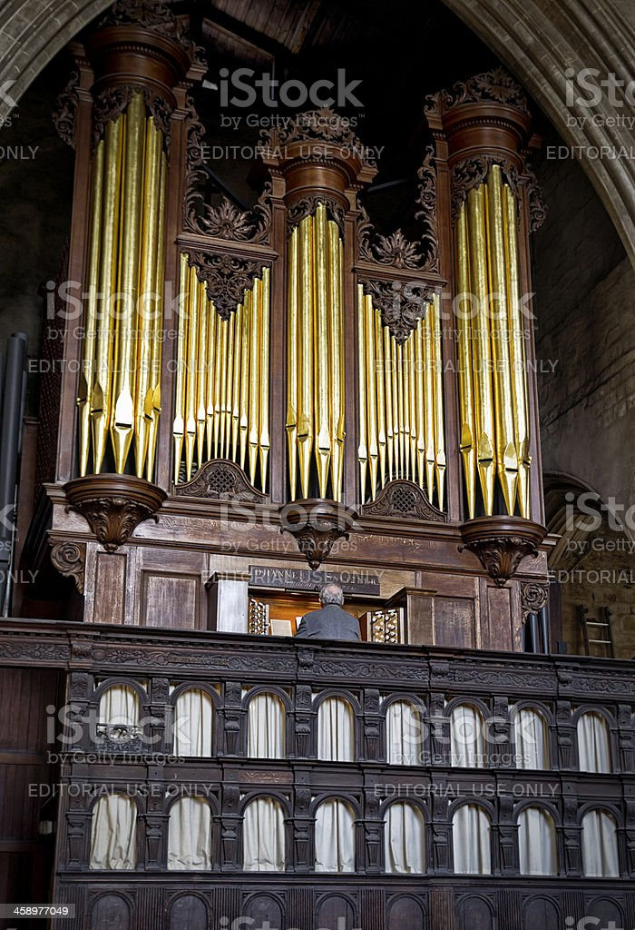 Organist playing in King's Lynn Minster royalty-free stock photo
