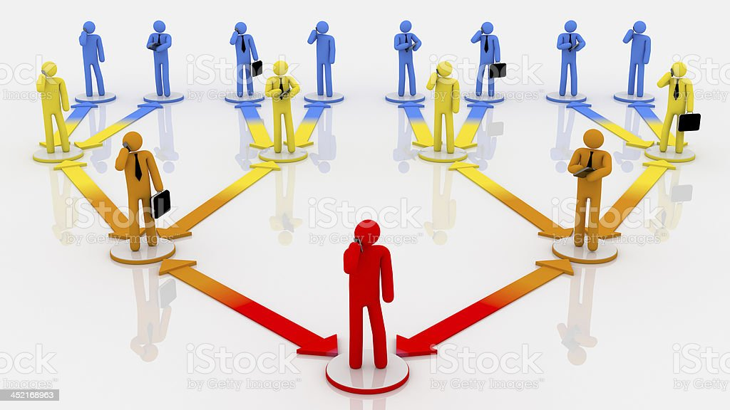 Organization chart. Multicolored. White background. royalty-free stock photo