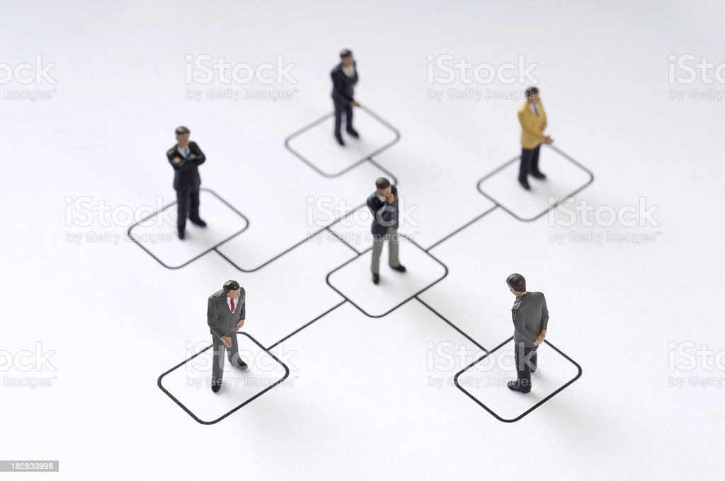 Organization chart stock photo