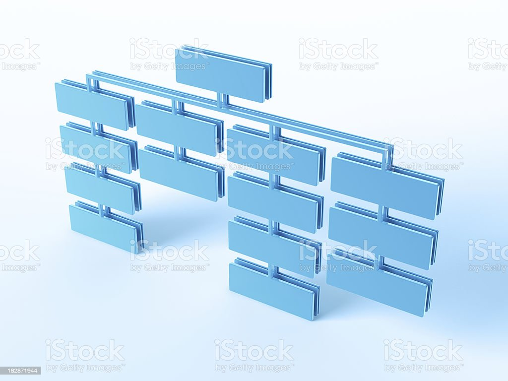 Organization Chart royalty-free stock photo