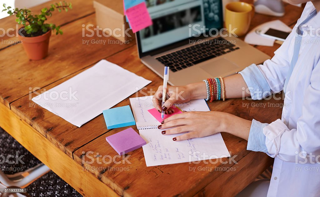 Organization is key to success stock photo