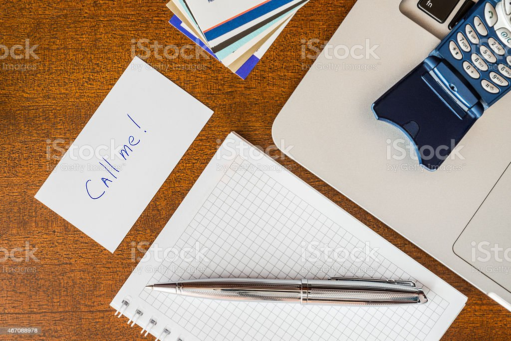 Organization of business meetings, to make important call stock photo