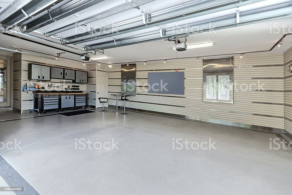 Organization: Well organized garage stock photo