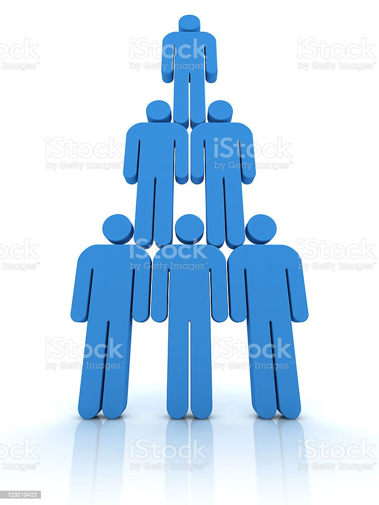 Organizational structure royalty-free stock vector art