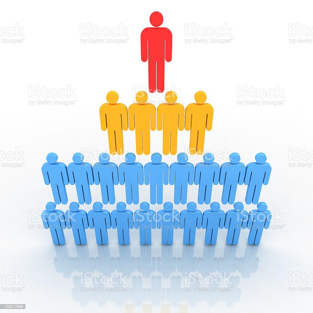 Organizational structure.  Pyramid model. stock photo