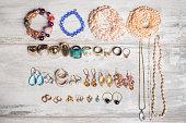 Organized set  of jewelry
