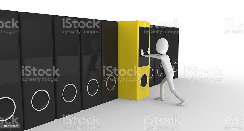 Organized storage stock photo