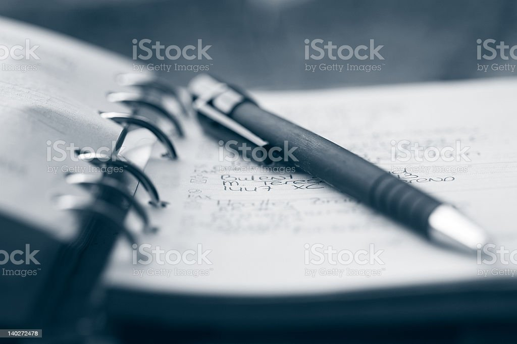 Organizer and pen royalty-free stock photo