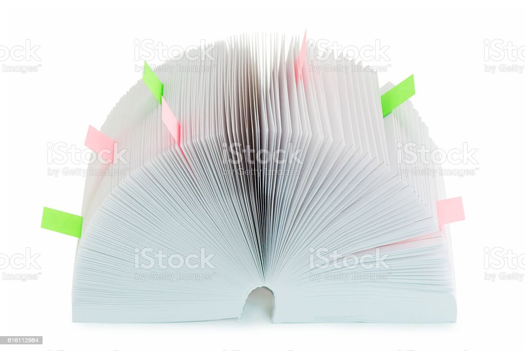 organizer with bookmarks stock photo