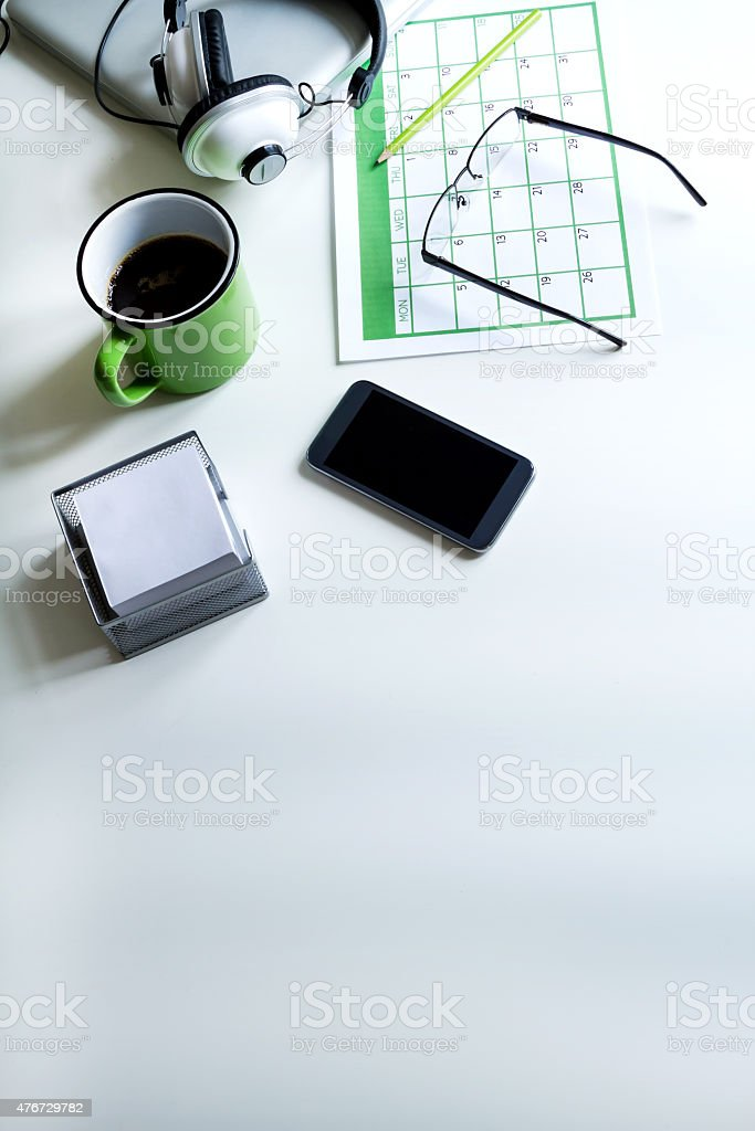 Organizing appointments stock photo