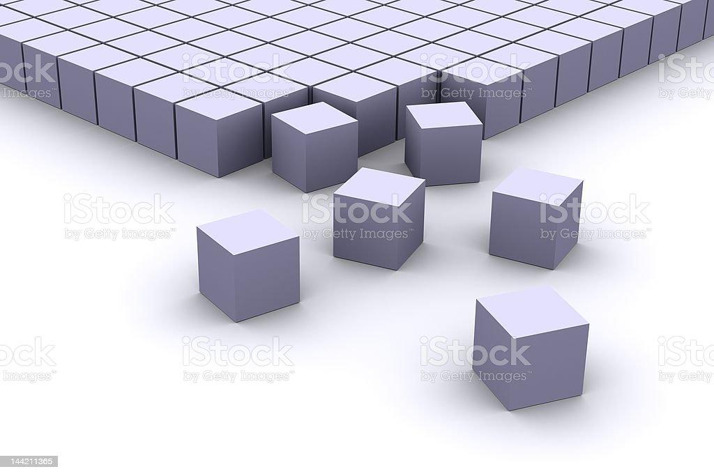 Organizing cubes royalty-free stock photo