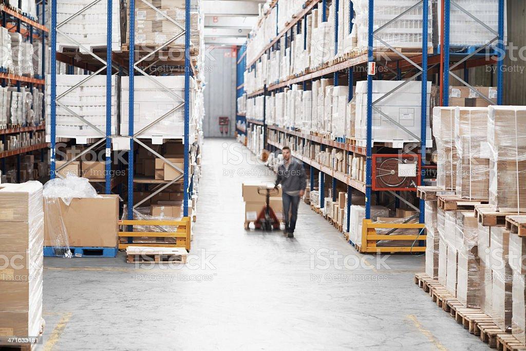 Organizing inventory royalty-free stock photo