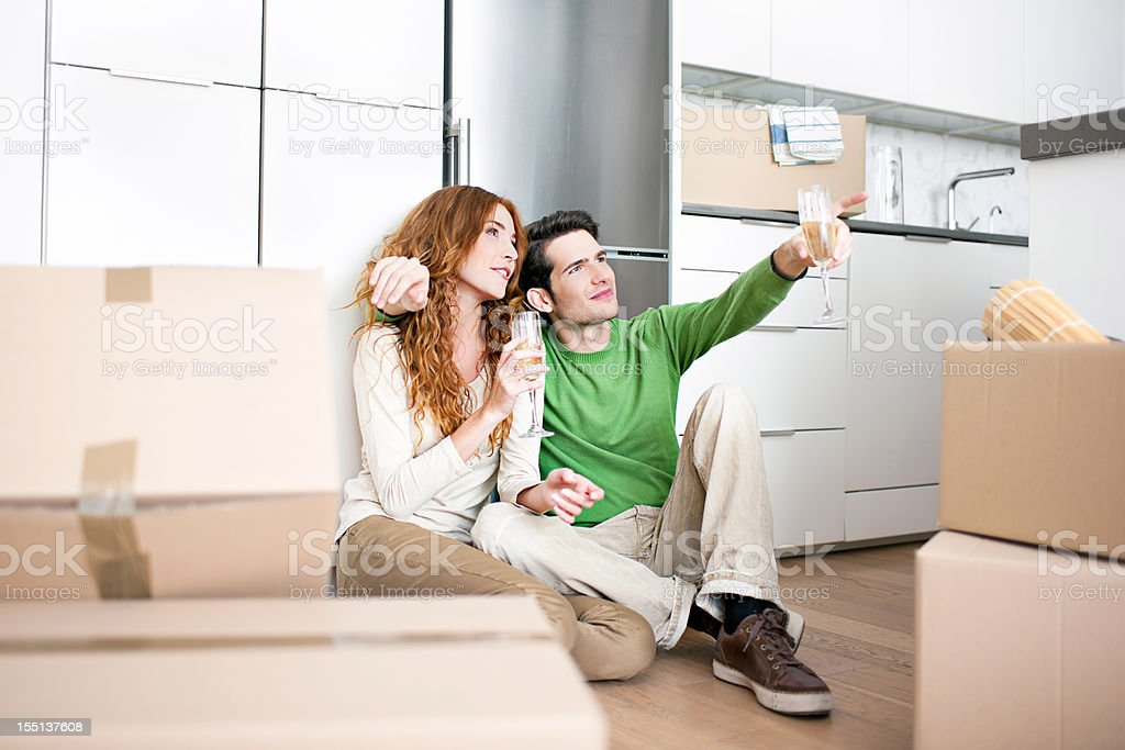 Organizing the new home royalty-free stock photo
