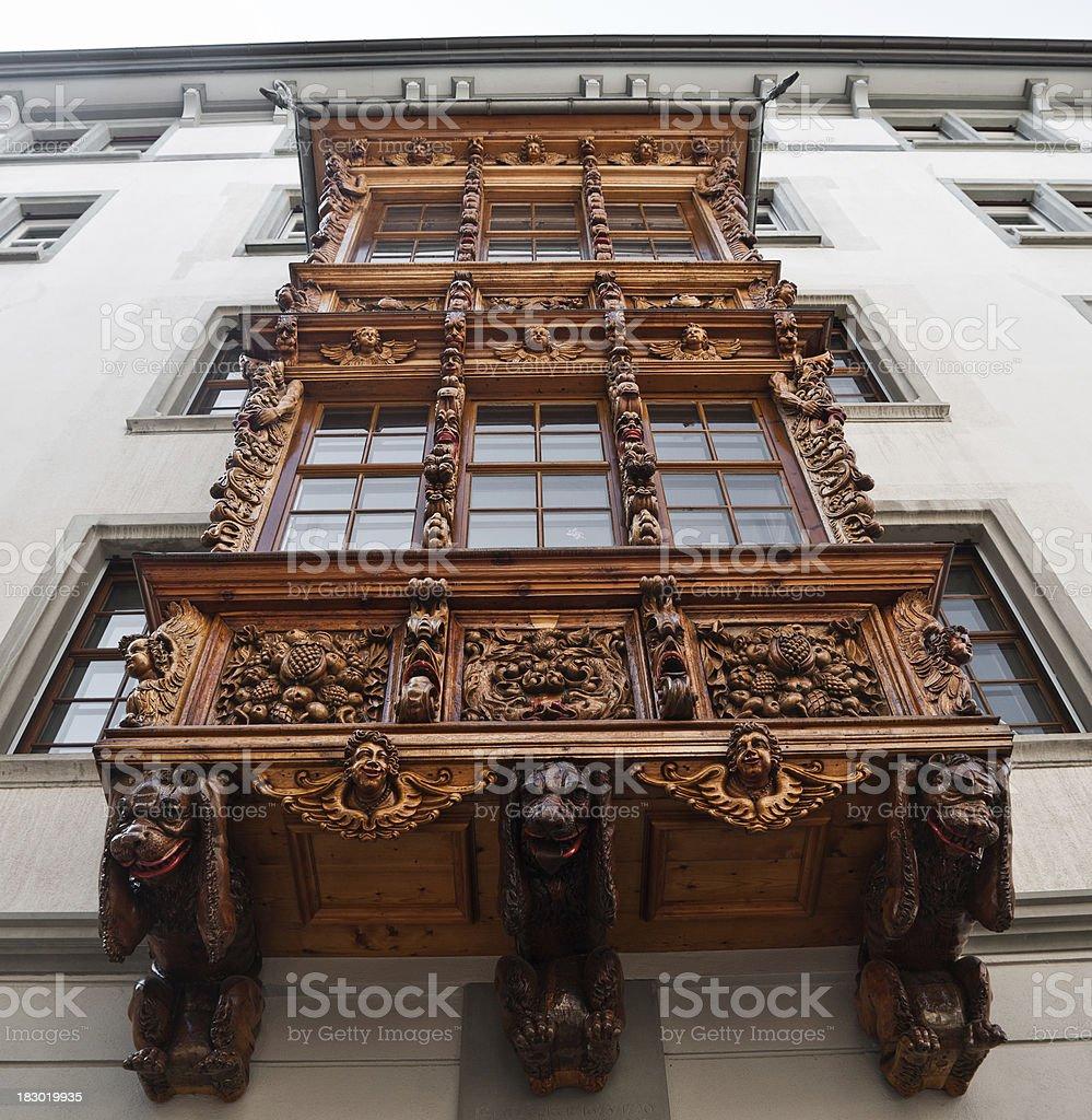 'Oriel in the city of Saint Gall, Switzerland' stock photo