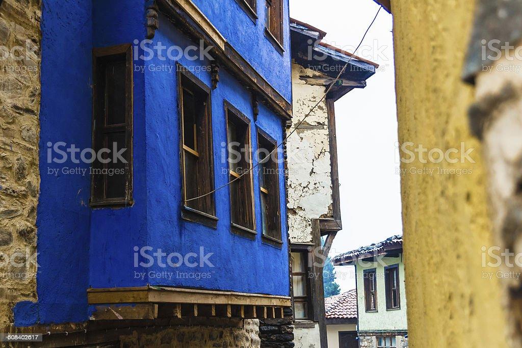 Oriel of Turkish House stock photo