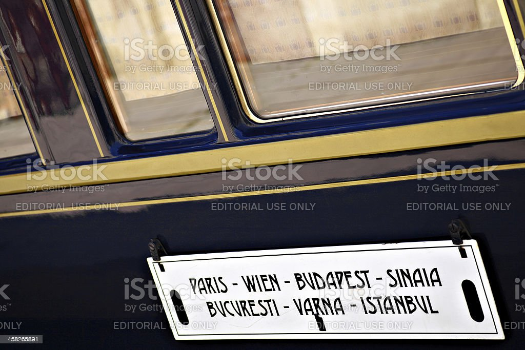 Orient Express train royalty-free stock photo
