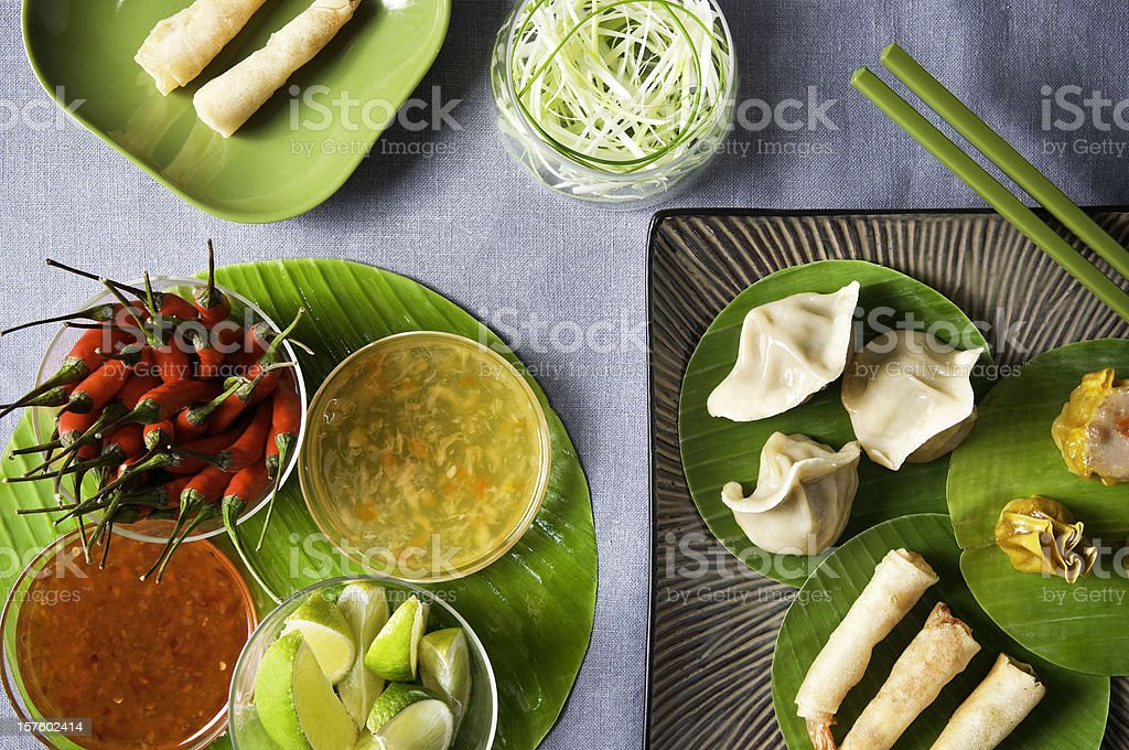 Oriental banquet a feast for the eyes. royalty-free stock photo