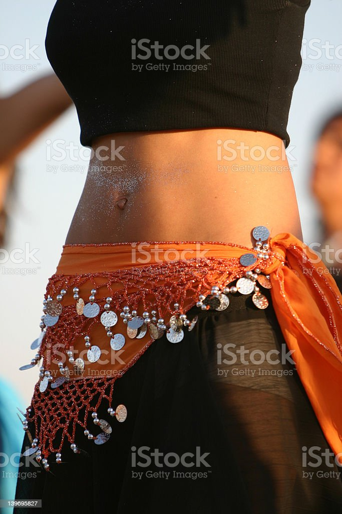 oriental belly dancer 2 royalty-free stock photo