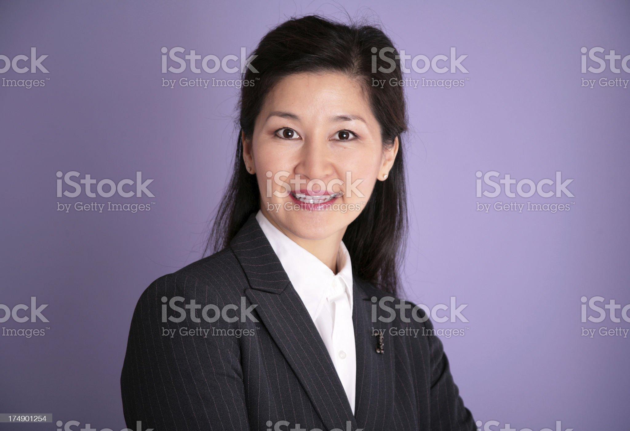 Oriental Business Woman royalty-free stock photo