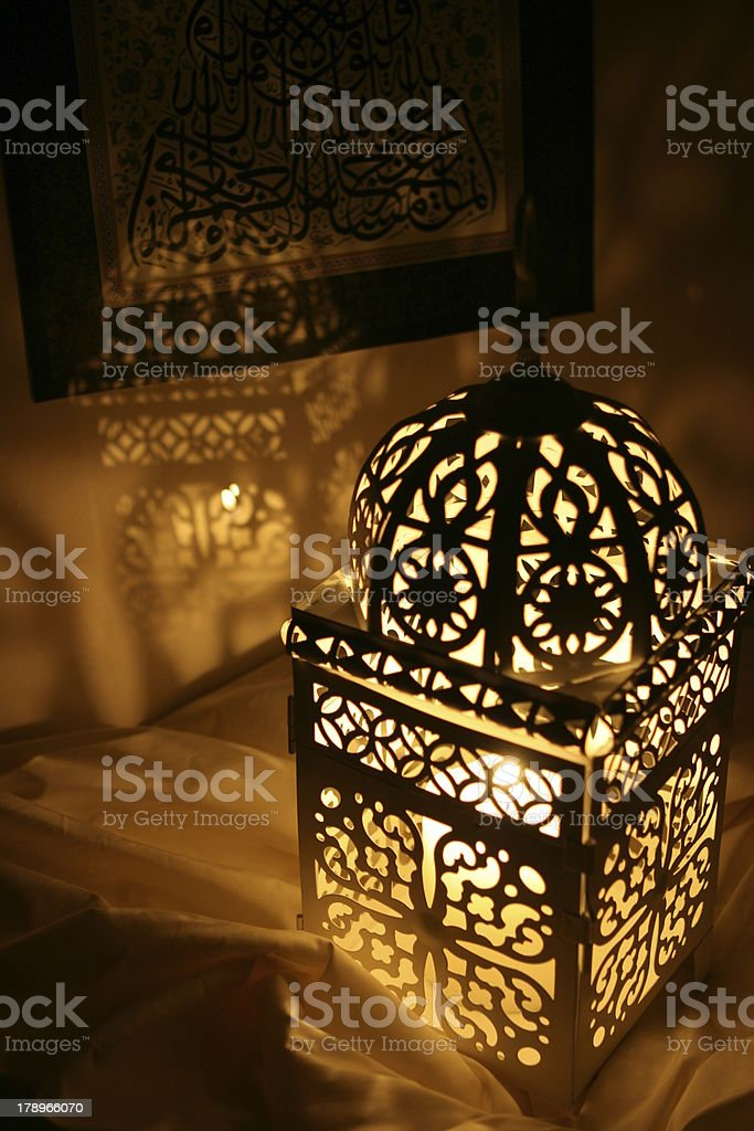 Oriental Candle Holder royalty-free stock photo