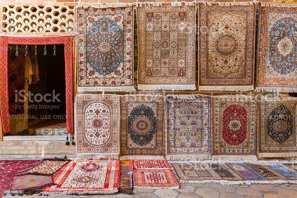 Oriental Carpets and Rugs stock photo
