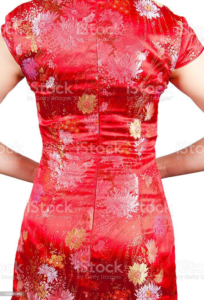 Oriental Cheongsam royalty-free stock photo