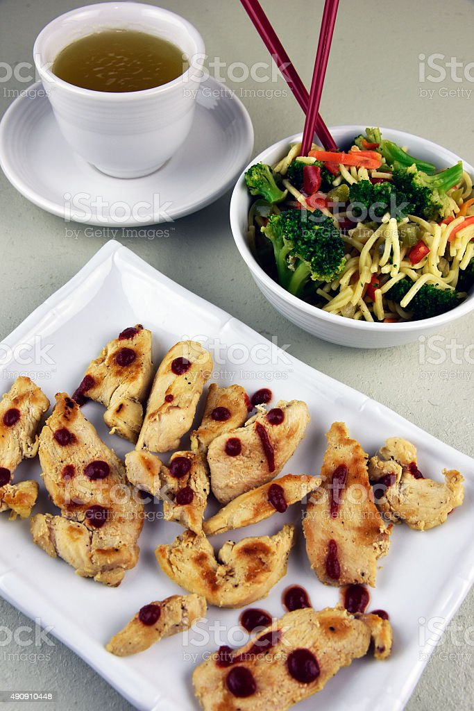 Oriental Chicken Entree royalty-free stock photo